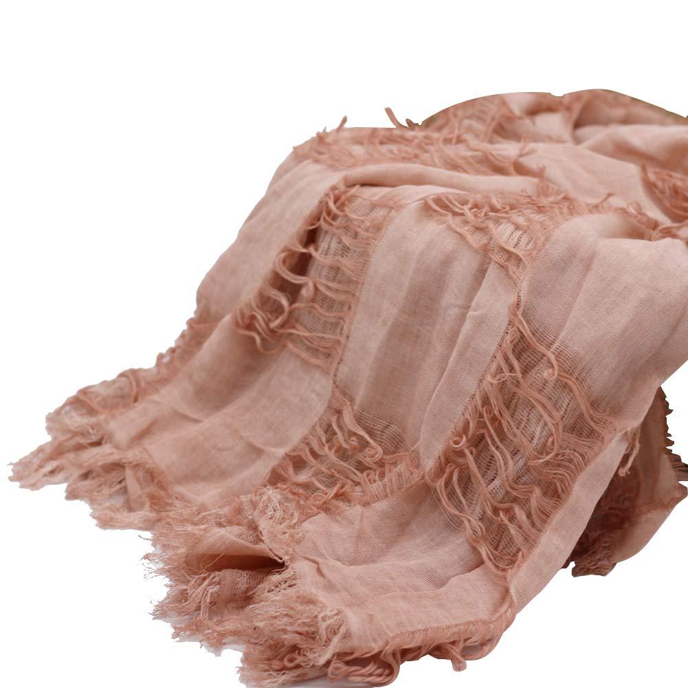 MoreChioce Baby Wrap Fotografie,Retro Neugeborenes Baby Foto Prop Lange Ripple Wraps Quaste Swaddle Decken DIY Baumwolle Foto Decke Requisiten Beige