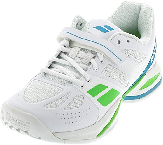 Shoes White Babolat Double Line Womens Tennis Sneakers