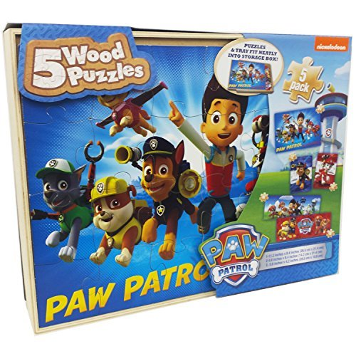Paw Patrol 5 Wood Puzzles