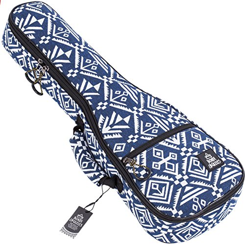 Ukulele Case Soprano Size Aztec 8 Official Colors Double woven carry handle Adjustable backpack straps Ultra Thick Padding with Enhanced Glide Zipper