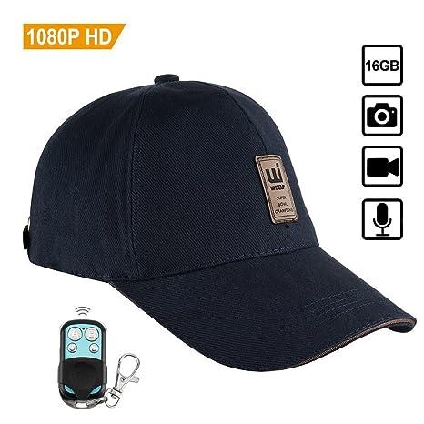 WISEUP 8GB 1920x1080P HD Microcamere Spia Cappello DVR Sicurezza Supporto  Foto che Prende con Telecomando df46af29bbe7