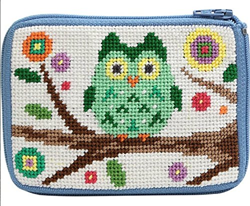 (Stitch and Zip Owl Coin Credit Card Case Needlepoint Kit SZ 205)