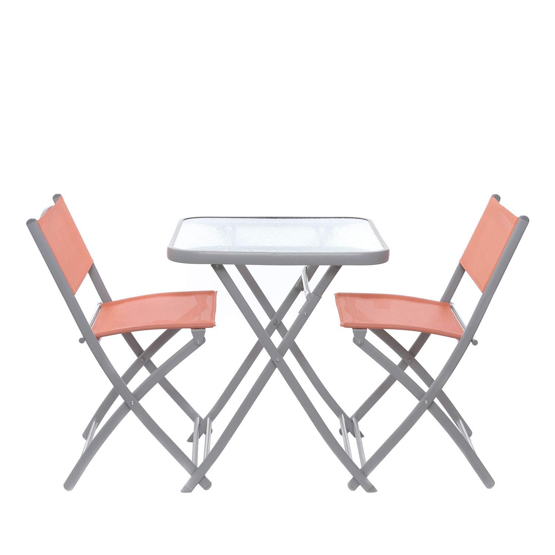 Set tavolo con coppia di sedie pieghevoli KASANOVA