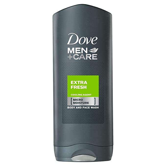 Dove Men+Care Extra Fresh Body & Face Wash 400ml Body Wash Gels at amazon