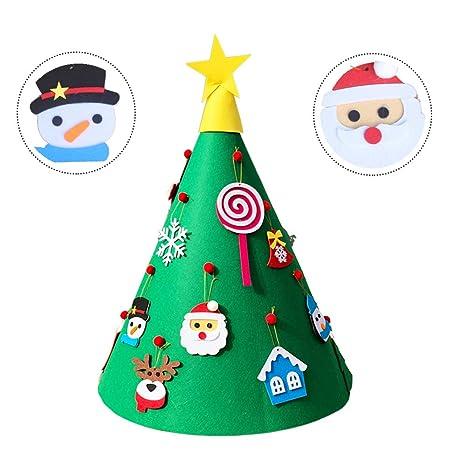 Amajoy Fai da te 3D Albero di Natale con 18pcs Toddler Amichevole ...
