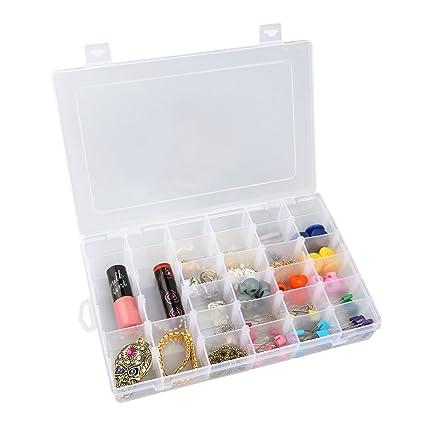 Amazoncom OULII Clear Plastic Jewelry Box Organizer Storage