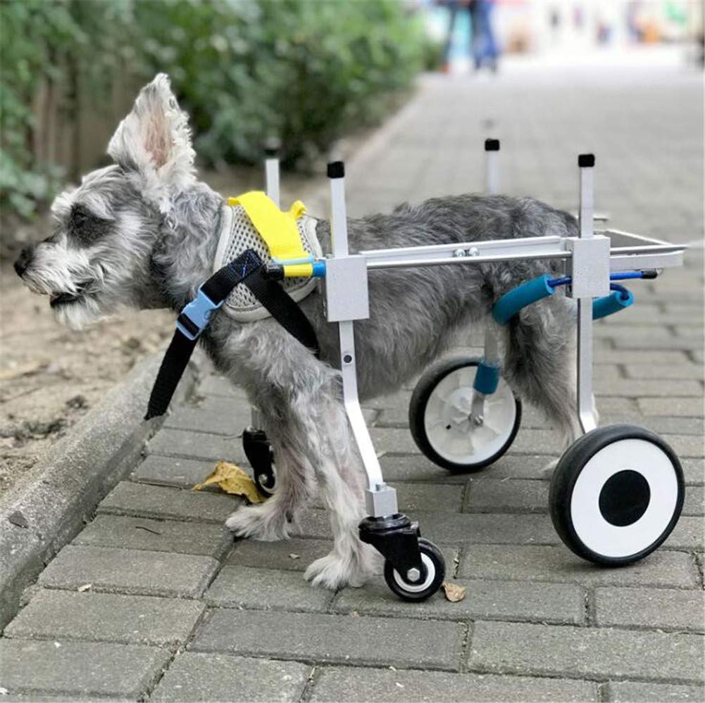 Dog Wheelchair Pet Wheelchair Four-Wheel Pets Product For Disabled Handicapped Dog Wheelchairs For Teddy And Papillon XS