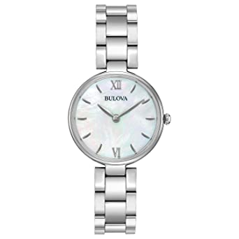 bb1a6c4cb Image Unavailable. Image not available for. Color: Bulova Women's  Analog-Quartz Watch with Stainless-Steel ...