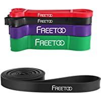 FREETOO Resistance Band, Workout Exercise Stretch Band for Body Stretching, Powerlifting, Pilates, Resistance Training, Crossfit, Yoga, Rehab and Home Fitness