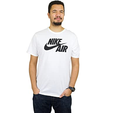 c3c7dd4c13df Nike Mens Sportswear Air T-Shirt White Black 624314-100 Size Small