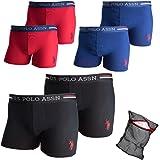 U.S. Polo Assn. Boxershorts 2er-, 4er-, 6er-Pack + Ziatec Wäschenetz - Unterhose - Unterwäsche für Männer - Herren-Unterhosen