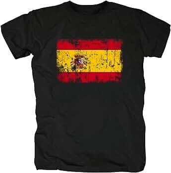 TShirt-People España Vintage Bandera Camiseta para Hombre S Negro ...