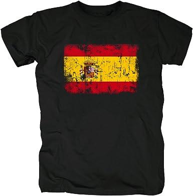 TShirt-People España Vintage Bandera Camiseta para Hombre: Amazon.es: Ropa y accesorios