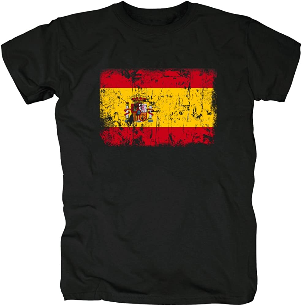 TShirt-People España Vintage Bandera Camiseta para Hombre S Negro: Amazon.es: Ropa y accesorios