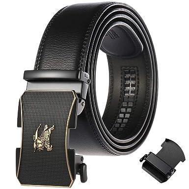 FR-AP-Soldat - Cinturón para hombre de piel auténtica ...