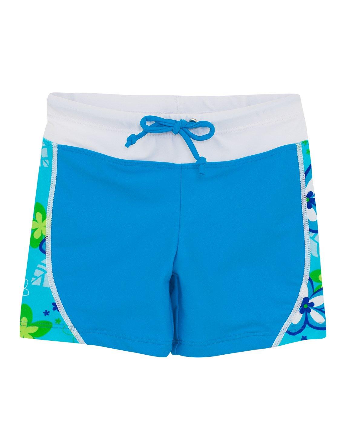 Tuga Girls Swim Short (UPF 50+), Aquamarine, 8/10 Yrs