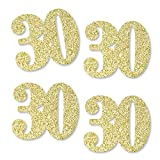 bling table numbers - Gold Glitter 30 - No-Mess Real Gold Glitter Cut-Out Numbers - 30th Birthday Party Confetti - Set of 25