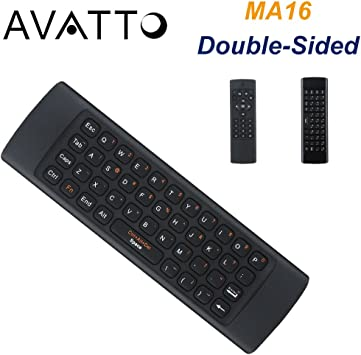 Diseño de (hebreo) avatto IR Aprendizaje Mando a distancia Air Mouse con teclado QWERTY para Android caja de TV/Smart TV/Set Top Box/Raspberry Pi/ portátil/sobremesa: Amazon.es: Electrónica