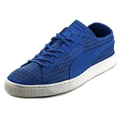 Puma adyacente a la pista de tenis de gamuza zapatillas zapatos con agujeros: Amazon.es: Zapatos y complementos