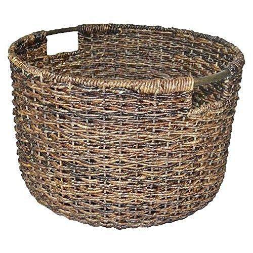 Wicker MED Round Basket - Dark Global Brown - Threshold 14104461