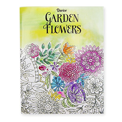 Darice Garden Flower Coloring Adults