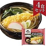 お水がいらない 海老天うどん 4食セット キンレイ 冷凍うどん [499g(麺180g)×4] 国産 [スープ/4種の具材入り] 温めるだけの簡単調理