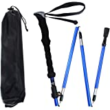 Alafen Aluminum Foldable Ultralight Travel Trekking Hiking Pole with Adjustable Height