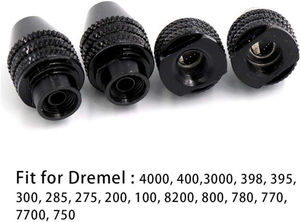 Juegos de brocas M8x0.75mm M7x0.75mm Rosca de mandril de broca sin llave 9//32-40 para Dremel 4000 3000 8200 Grinder Rotary Tool 0.5-3.2mm Flexible Shaft-M7/_x/_0.75mm/_Long/_