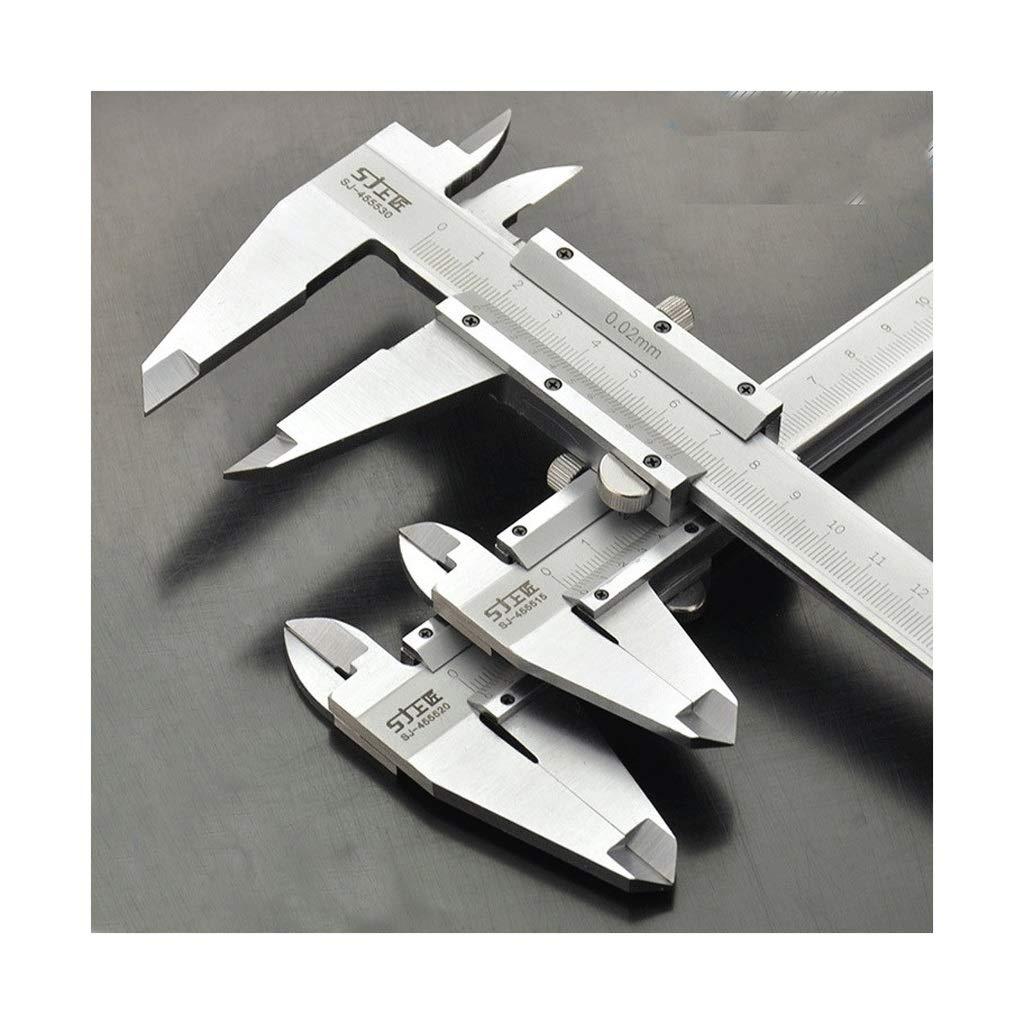 0-150mm0-200mm300mm Color : 150mm /étrier anti-poussi/ère et /étanche Pied /à coulisse /étrier en acier inoxydable de haute pr/écision