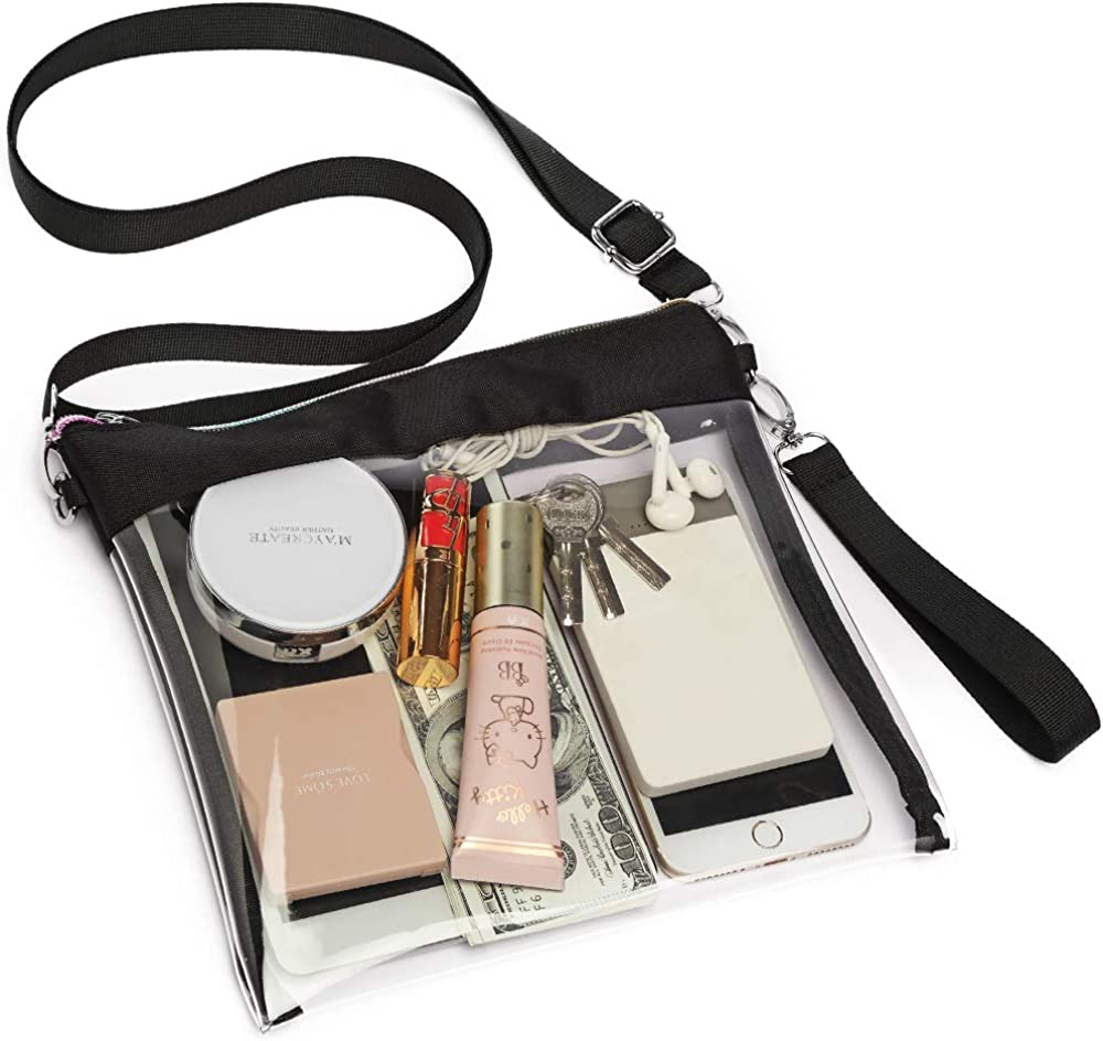 Clear Purse Crossbody Veckle NFL Stadium Approved Clear Bag Wrist Women Handbag