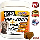 LIVELY PETS Hip and Joint + Skin and Coat Supplements for Dogs - Best Supplements for Dogs Joints and Dog Pain Relief / Pain Reliever; Glucosamine Chondroitin Dogs MSM for Dogs
