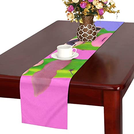 Centerpiece Table Runner Cute Cartoon Cactus Banquet Table Runner Dining Table Runner Farmhouse 16x72 Inch For Dinner Parties Events Decor Amazon Ca Home Kitchen