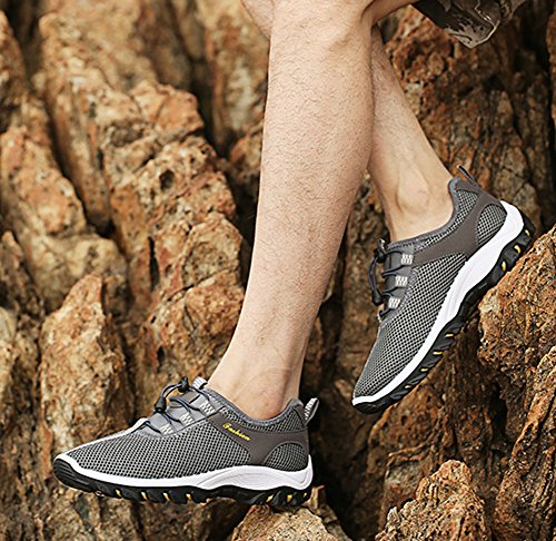 Outdoor Breathable Slip Mesh Summer Grey Sports Walking Shoes Shoes On Men's Climbing waxFfqf4t
