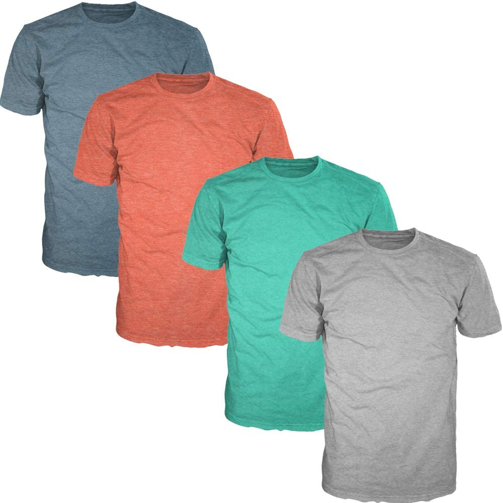 FSD Basic Free shipping on posting reviews Plain Crew Neck Short T-Shirts of Pack Men Outlet sale feature Sleeve for