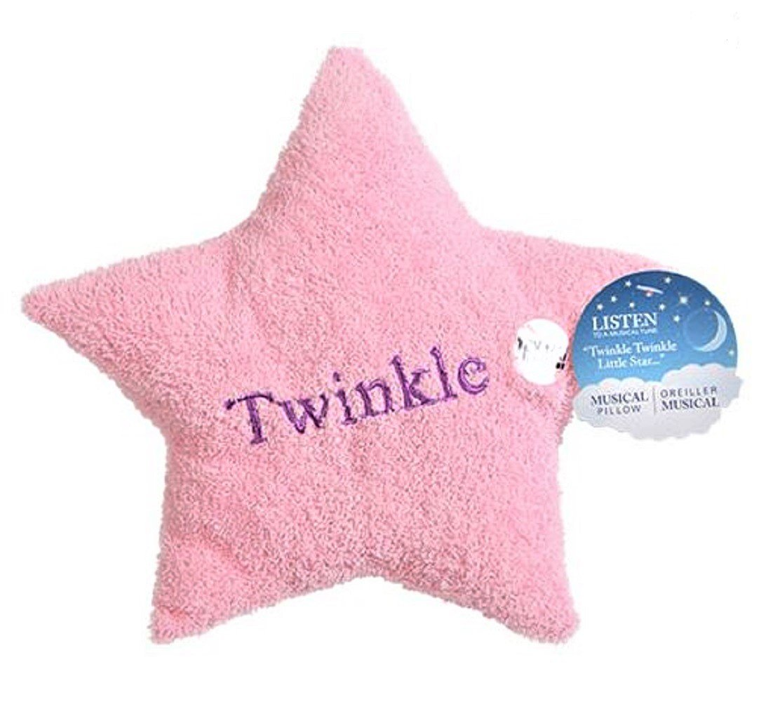 Plush Musical Prayer Bear and Star Pillow Twinkle Twinkle and Now I Lay Me Down To Sleep Gift Set Blue Greenbrier