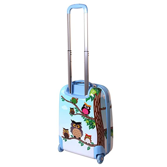 f720412df Karry Niños rígida equipaje de mano Maletín equipaje kabienent Trolley  maletín infantil niño y niña LED Skater ruedas 28 L Viaje Maleta Trolly 819,  búho ...