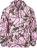 Girls Pink Camo Fleece Hunting Camouflage 1/4 Zip Hooded Sweatshirt (XL, NEON Pink)
