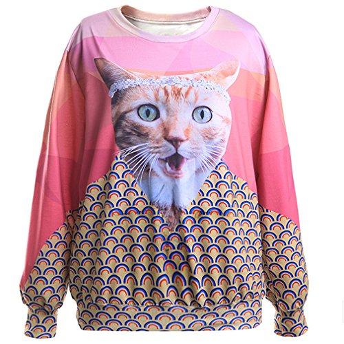 Thenice - Sudadera - para mujer Wink Cat