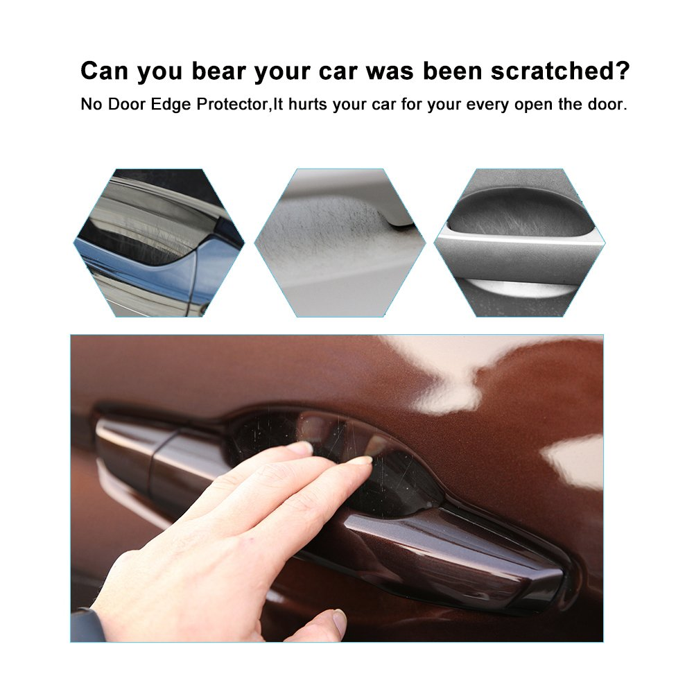 Special for 2012-2018 Honda CR-V 6PCS Transparent Auto Car Door Edge handle scratch Protector Handle Scratches Film Clear Protective Sticker Invisible, Compatible with 2016 2017 2018 Honda Civic RUIYA