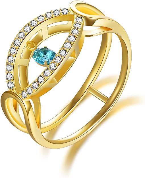 Yoga inspired ring Sterling silver plated ring Bohemian eye ring Stackable ring Eye ring Art ring. Handmade ring Evil eye ring