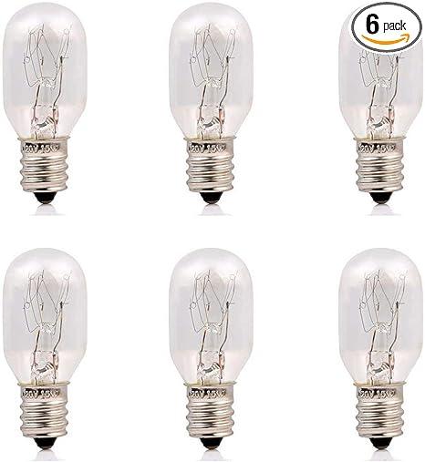 Games/&Tech 10 Pack Replacement Light Bulbs for Salt Lamp Night Light Candalabra 7 Watt Incandescent E12 Base