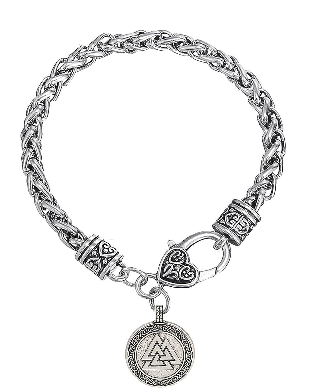 Dawapara Vintage Odin Vikings amuleto Valknut Grano Braccialetto per Uomo Donna Jewelry YiYou B07929G88W_US