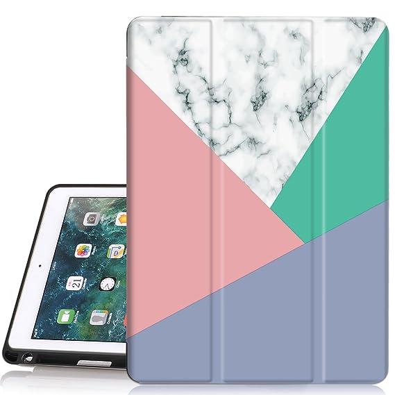 ae753f3cda3f iPad 6th/5th Generation Case, Hocase Trifold Folio Smart Case with Apple  Pencil Holder, Auto Sleep/Wake Feature, Soft TPU Back Cover for iPad ...