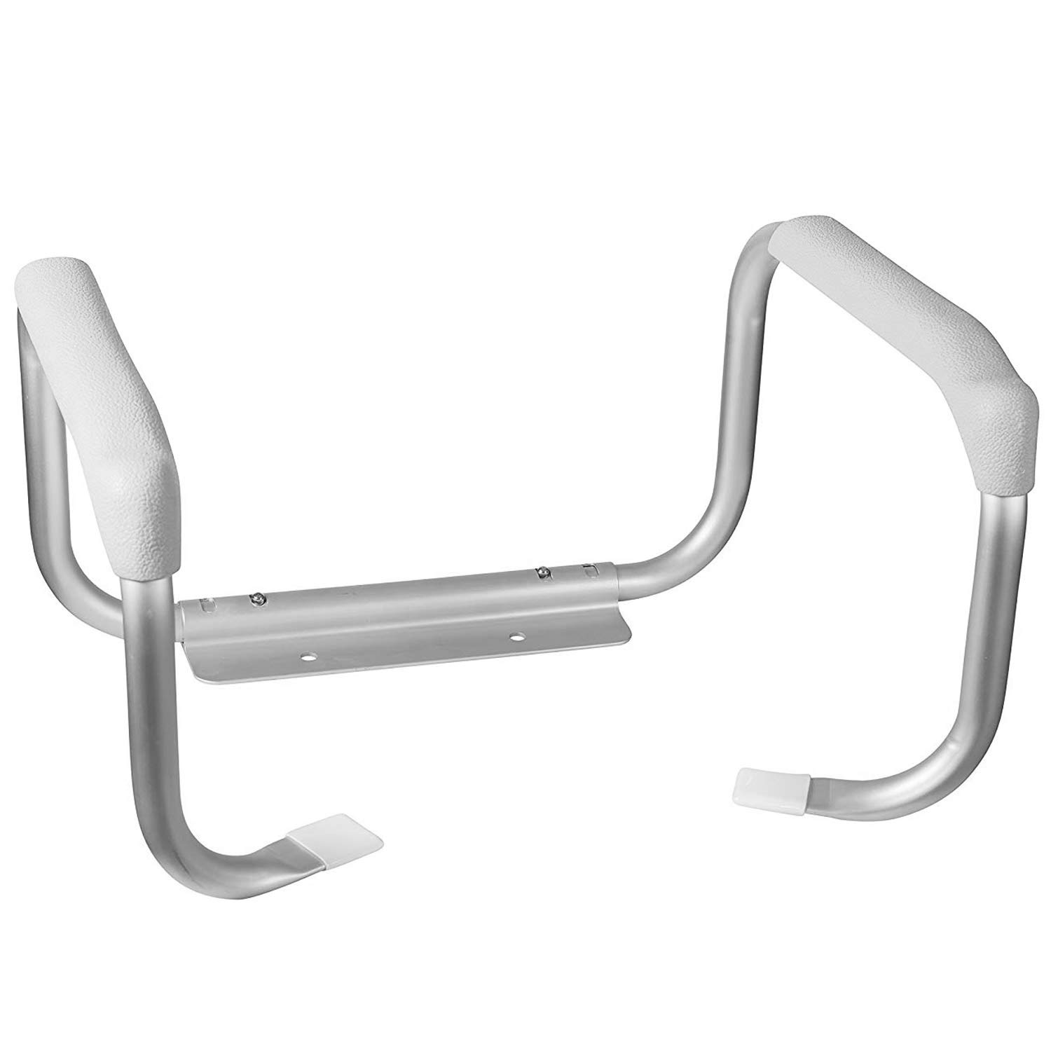 DMI Toilet Safety Rails, Toilet Grab Bars, Toilet Safety Handrails, Easy Assembly with no Tools, White by Duro-Med