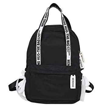 9937530c656 Amazon.com: Shoresu Letter Print Girls School Bags for Teenagers ...
