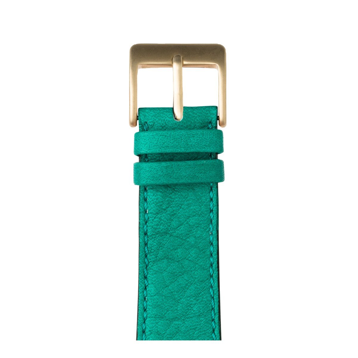 Roobaya | Premium Sauvage Leather Apple Watch Band in Turquoise | Includes Adapters matching the Color of the Apple Watch, Case Color:Gold Aluminum, Size:38 mm