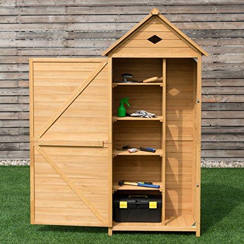 Goplus outdoor storage shed yard locker storage hutch for Garden shed uae
