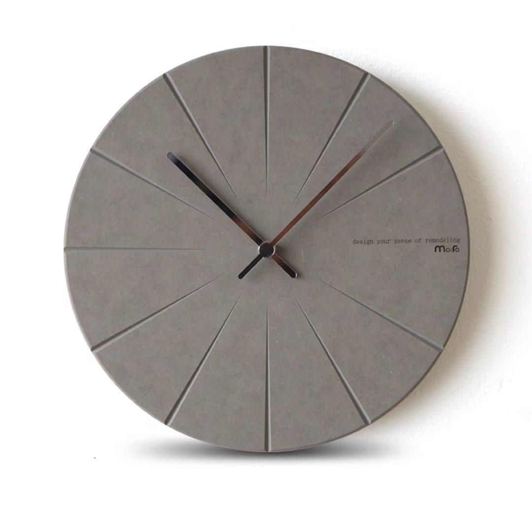 北欧 時計 おしゃれ 掛時計 壁掛け 掛け時計 リビング 現代 シンプル ファッション 水晶時計 シズネ 個性 鐘 グレー EBODONG  グレー B07C5F1LX2