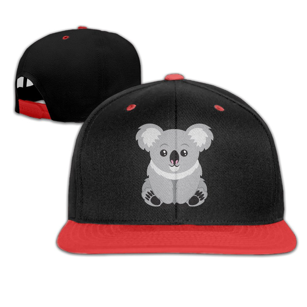 Cute Cartoon Animal Koala Snapback Hip Hop Baseball Bill Hat White