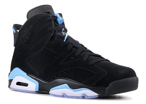 826cc8923ae Nike Air Jordan 6 Retro UNC Men Black University Blue 384664-006 (11.5)
